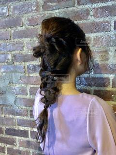結婚式のヘアセットの写真・画像素材[2347081]
