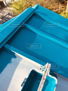 トタン屋根屋根の塗装の写真・画像素材[1074309]