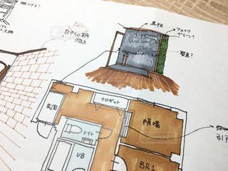 マンションの内装のイラストを写真に撮りました。の写真・画像素材[1075468]