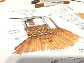 マンションの内装のイラストを写真に撮りました。の写真・画像素材[1075471]
