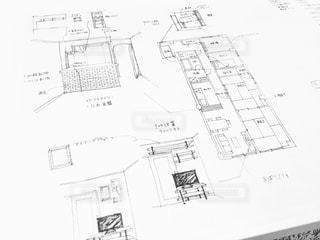 マンションの間取りの手描きのイラストを撮りました。の写真・画像素材[1075473]