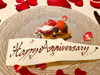 Happy Anniversary♡ デザートプレートの写真・画像素材[1079747]