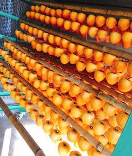 手作り干し柿の写真・画像素材[1081601]