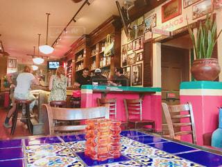 メキシコ料理レストランのテーブルの写真・画像素材[1406467]