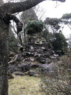 霧島神宮にある謎の石の写真・画像素材[1861597]