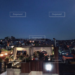 夜の街の景色の写真・画像素材[1266159]