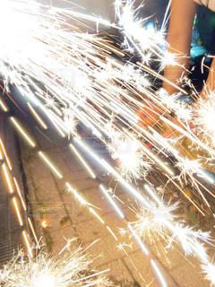 空の花火の写真・画像素材[3604291]