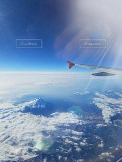 空からの富士山の写真・画像素材[1079926]