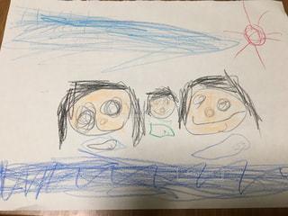 子供が描いた夏の思い出の写真・画像素材[1092688]