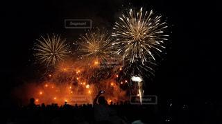 夜空の花火の写真・画像素材[1080327]