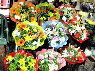パリの花屋の写真・画像素材[1094909]
