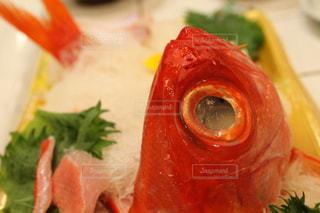 金目鯛のお造りの写真・画像素材[1085105]