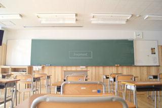 卒業 誰もいなくなった教室の写真・画像素材[1081436]