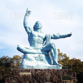 平和公園の平和祈念像の写真・画像素材[1081544]
