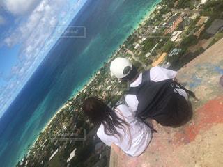 山頂からの絶景の写真・画像素材[1081963]