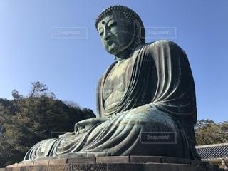 鎌倉の高徳院にての写真・画像素材[1083070]