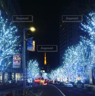 冬の東京タワーの写真・画像素材[1083657]