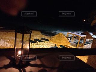 夜の海辺の写真・画像素材[1120222]