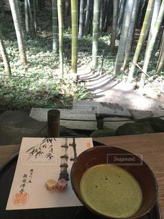 鎌倉、報国寺のお抹茶の写真・画像素材[1084991]