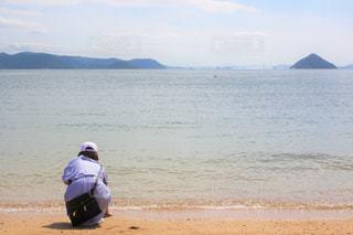 海水はちょうどいい冷たさだったの写真・画像素材[1196758]