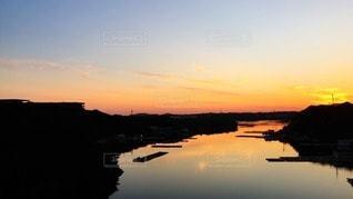 英虞湾の夕日の写真・画像素材[36926]
