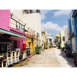 可愛い街並み、アラブストリートの写真・画像素材[1086878]