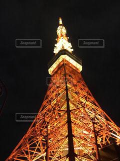 夜の東京タワーの写真・画像素材[3136044]