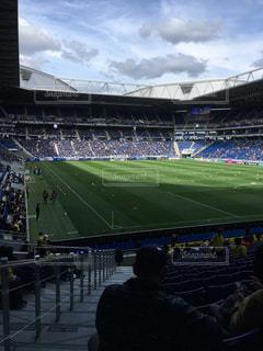 サッカーとスタジアムの写真・画像素材[1086355]