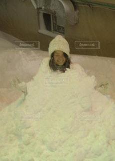 雪だるまならぬ雪女⁈の写真・画像素材[1088184]