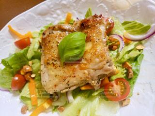 食べ物の皿のクローズアップの写真・画像素材[3175318]