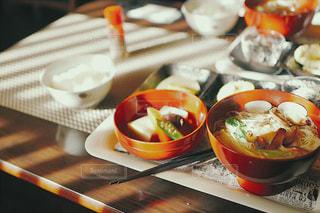 懐かしい、温かい日本食の写真・画像素材[1086758]