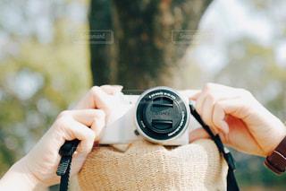 カメラと散歩の写真・画像素材[1086996]