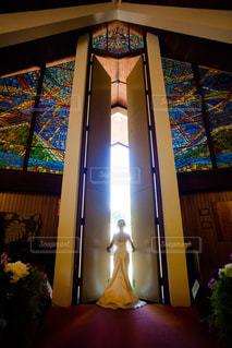 ステンドグラス 結婚式の写真・画像素材[1087171]