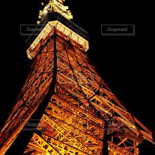 夜の東京タワーの写真・画像素材[1088459]