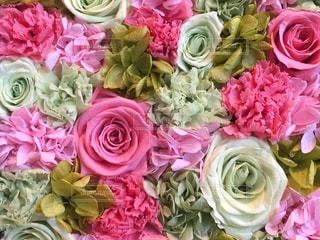 ピンクの花の花束の写真・画像素材[1088631]