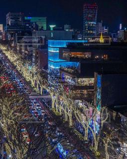 夜の街の写真・画像素材[1089340]