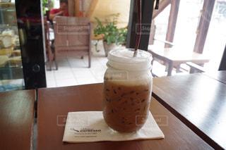 ラオス、カフェのアイスコーヒーの写真・画像素材[1090681]