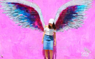 天使の羽ウォールアートの写真・画像素材[1089949]