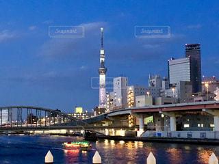 隅田川の夜景の写真・画像素材[1119721]