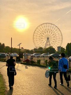 公園の帰り道の写真・画像素材[1141337]