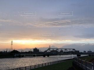 夕空と川の写真・画像素材[1161631]