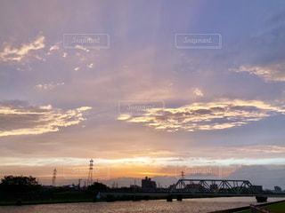 夕空と川の写真・画像素材[1161634]