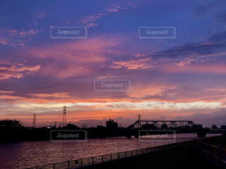 夕空と川の写真・画像素材[1161640]
