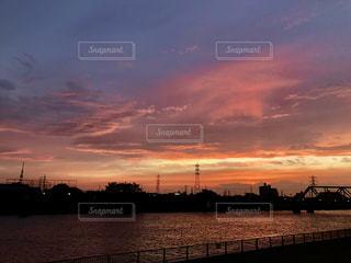 夕空と川の写真・画像素材[1161641]