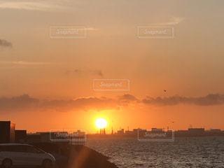 海岸の朝焼けの写真・画像素材[1968255]