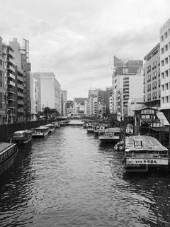 神田川の船宿の写真・画像素材[2019552]
