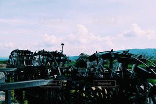 三連水車の写真・画像素材[1091478]