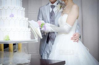 ケーキ入刀の写真・画像素材[1098403]