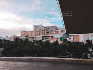 ホテルから見える空の写真・画像素材[1185777]