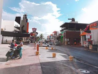メキシコ リゾートロードの写真・画像素材[1189729]